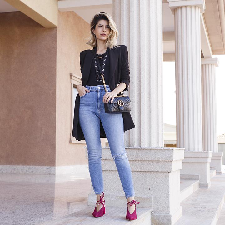 Look: Blazer + Jeans